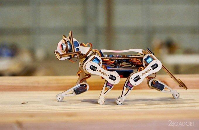 Робокот Nybble умеет танцевать, бегать и подавать лапку