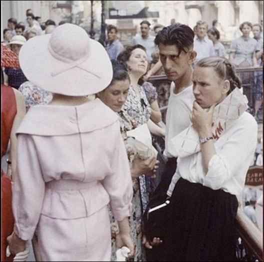 Модели Christian Dior в  Москве в 1959 году