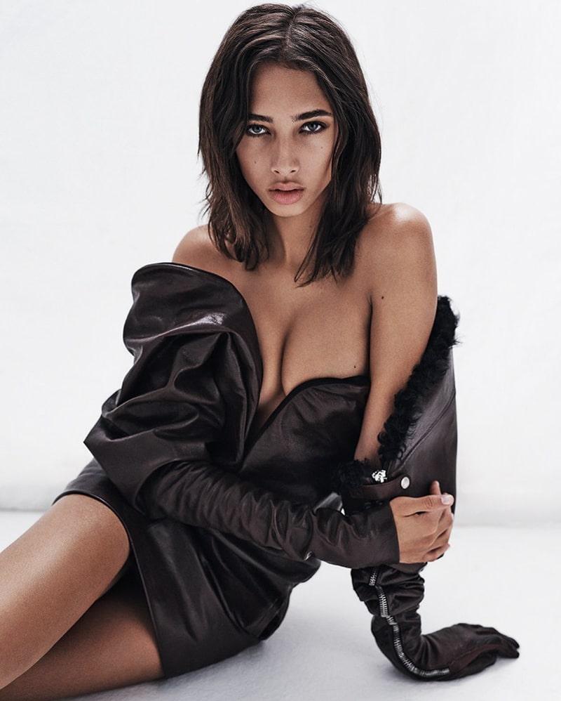 Ясмин Вейналдум (Yasmin Wijnaldum) в фотосессии для журнала Vogue Korea (Декабрь 2017)