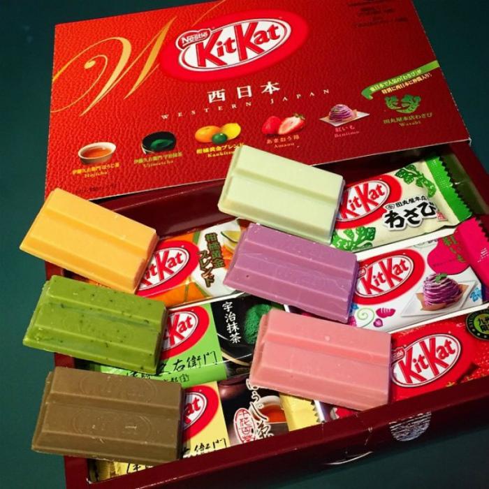 Необычные вкусы Kit Kat.