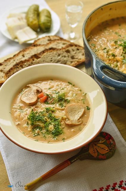 Украинская кухня. Суп грибной по-гуцульски