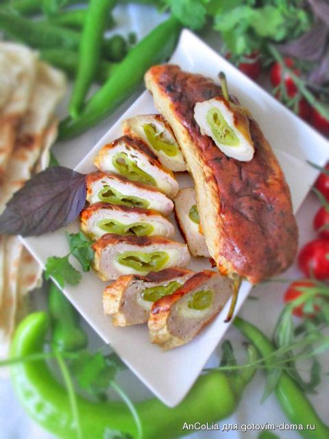Кябабы (котлеты) с острым перцем чили и сыром