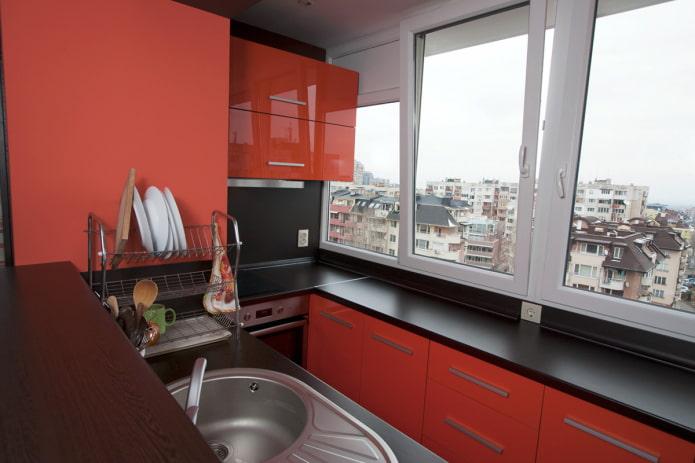 Кухня на балконе: примеры дизайна