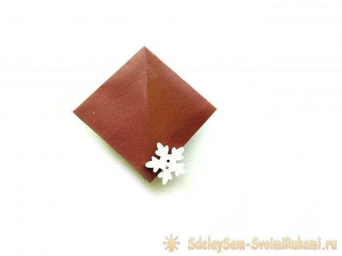 Как сделать елочку в технике оригами