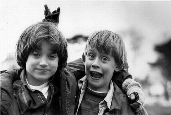 Элайджа Вуд и Маколей Калкин, 1993 год