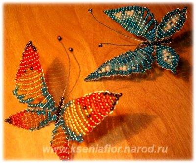 Бабочки из бисера: описание …