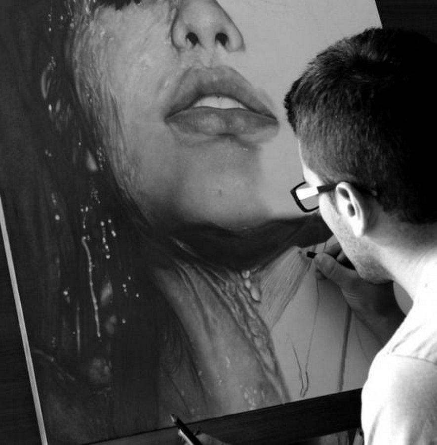 Как работают художники-гиперреалисты