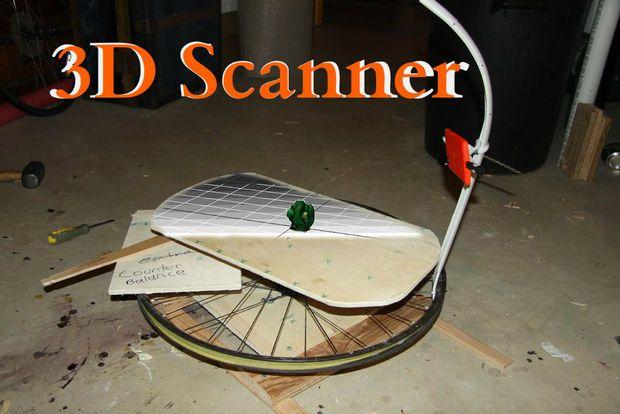 3D-сканер из смартфона и велосипедного колеса своими руками