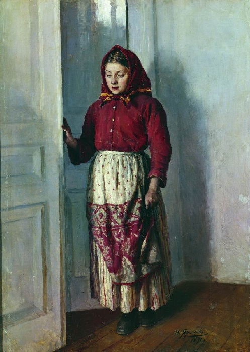 «Девушка-крестьянка».(1891 год). Автор: Н. Ярошенко.