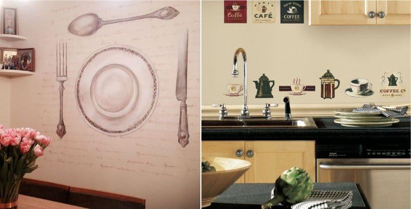 Художественная роспись кухни