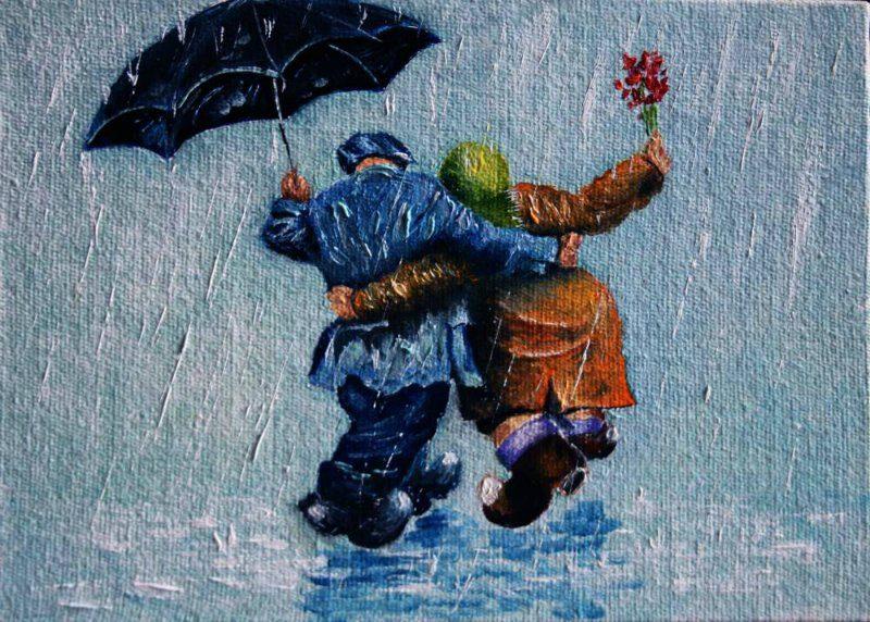 Открытки ура дождь