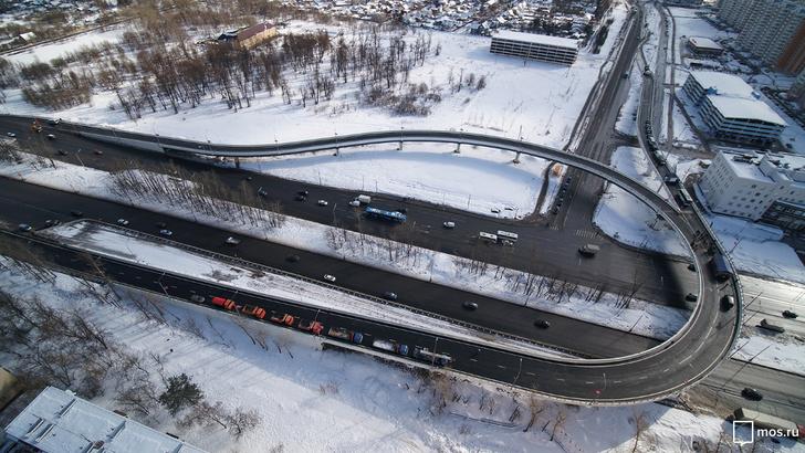 В Москве открыта эстакада через Варшавское шоссе в Щербинке