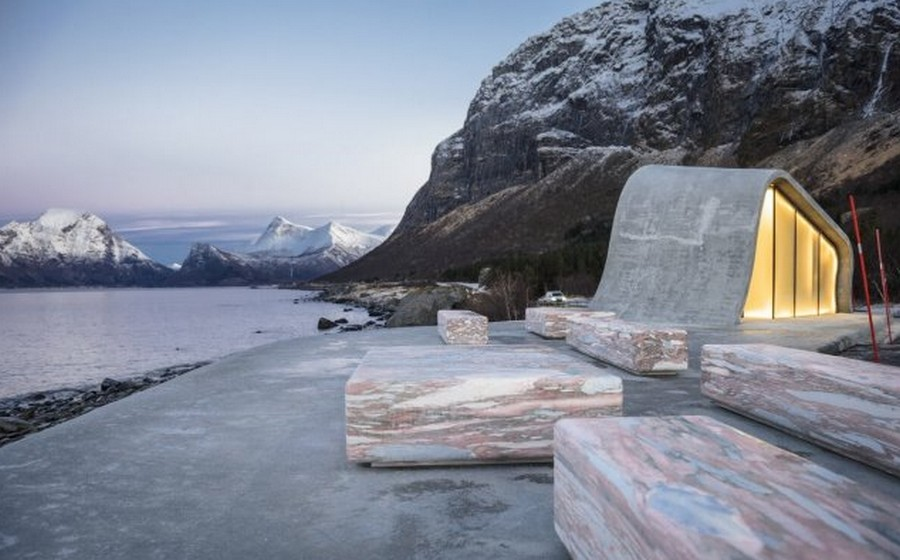 Угадайте, что это за строение с видом на Норвежское море? заграница,мир,путешествие,страны,экология