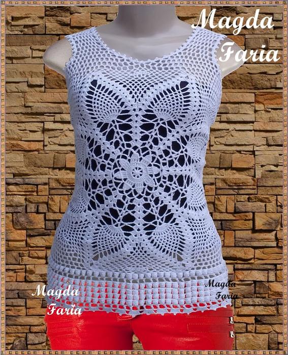 Идеи для вязания крючком - туники, платье со схемами вязание