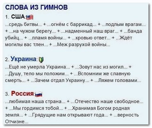 Михаил Задорнов: Гимны Америки, Украины, России…