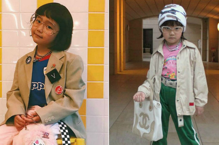 Семилетняя модница из Японии придумывает невероятные винтажные образы