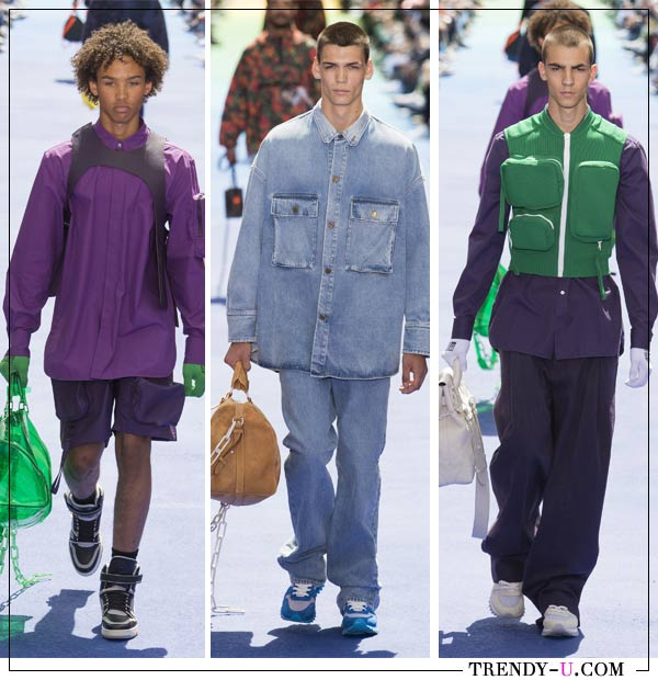 Карманы на одежде от Lousi Vuitton SS 2019