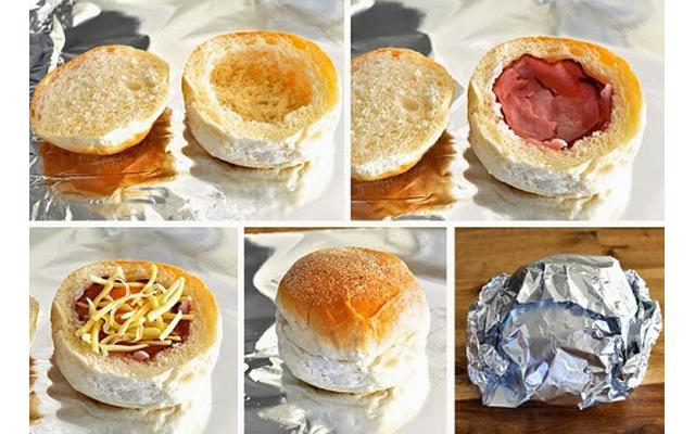 Горячие булочки с яйцом, сыр…