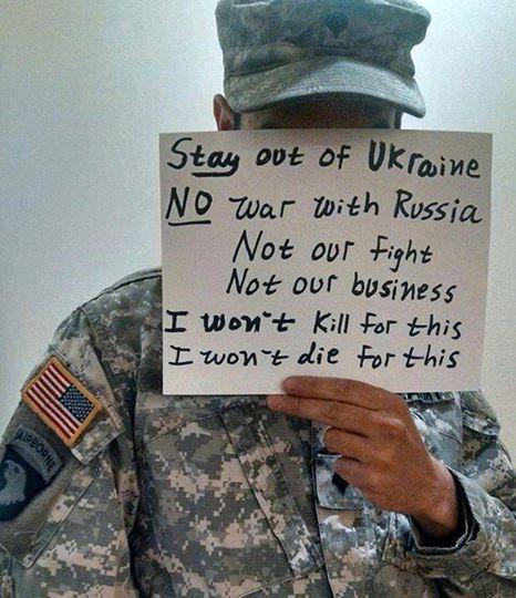 Что думают о войне с Россией в армии США. Фото из Фейсбука от неизвестного американского солдата.