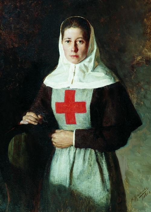 «Сестра милосердия».(1886 год.) Автор: Н. Ярошенко.