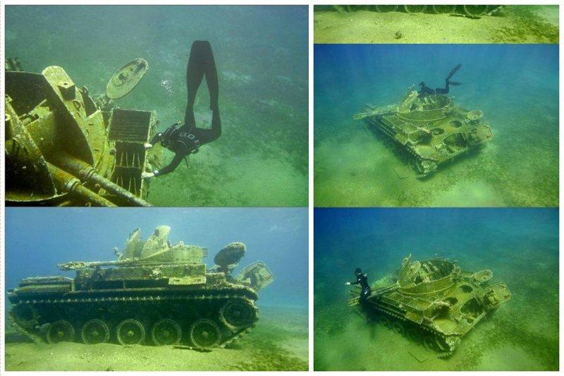 Танки жизнь, затонувшие, под водой, страшно, техника, удивительно