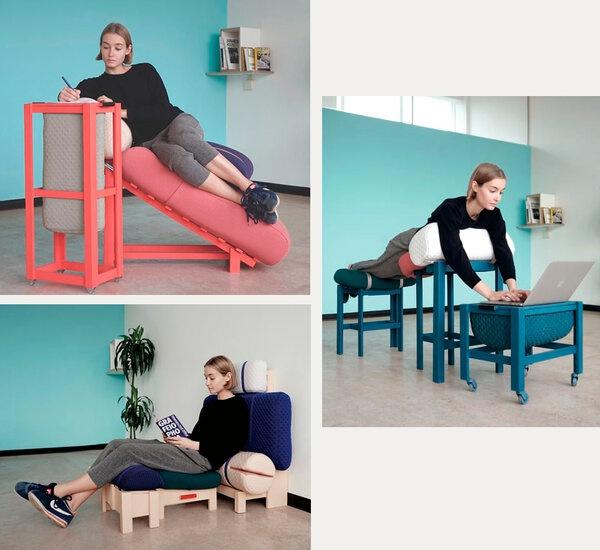 Мебель для больной спины: работа лёжа