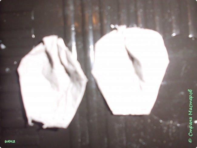 Мастер-класс Бумагопластика Кованая роза из туалетной бумаги Бумага Диски ватные Клей Краска Проволока фото 9