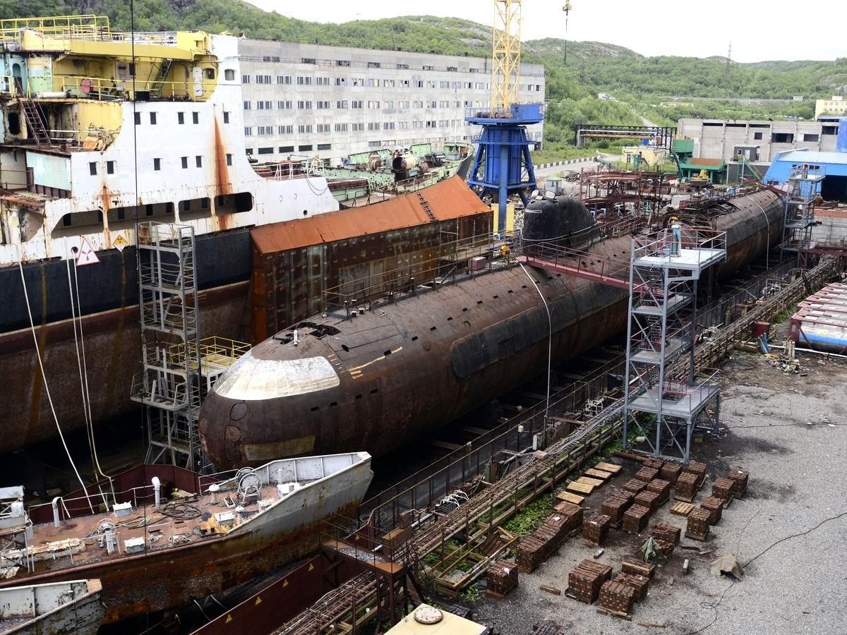 """Прогресс в превращении атомной подводной лодки """"Ленинский Комсомол"""" в музей"""