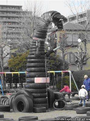 Мебель из шин. Часть 2. Детские шинные площадки в Японии