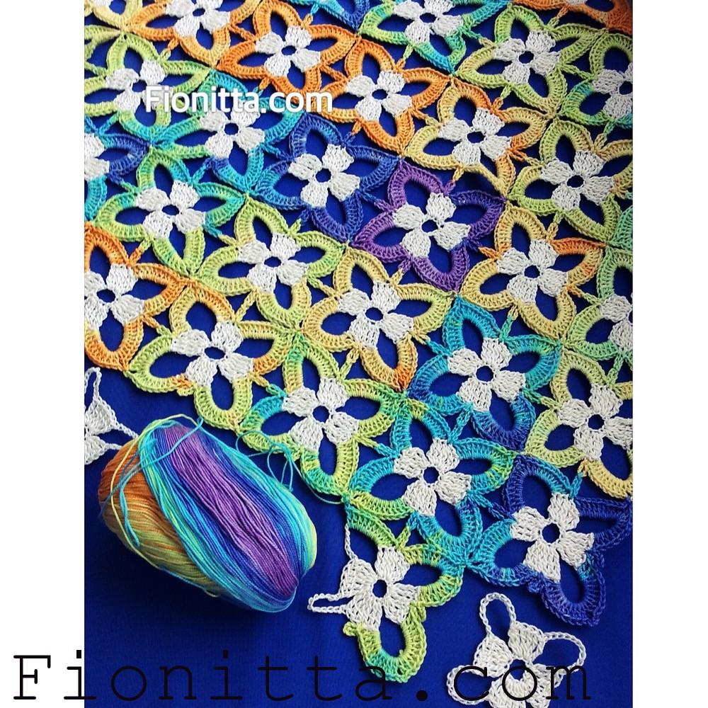 Симпатичный цветочный мотив. Схема