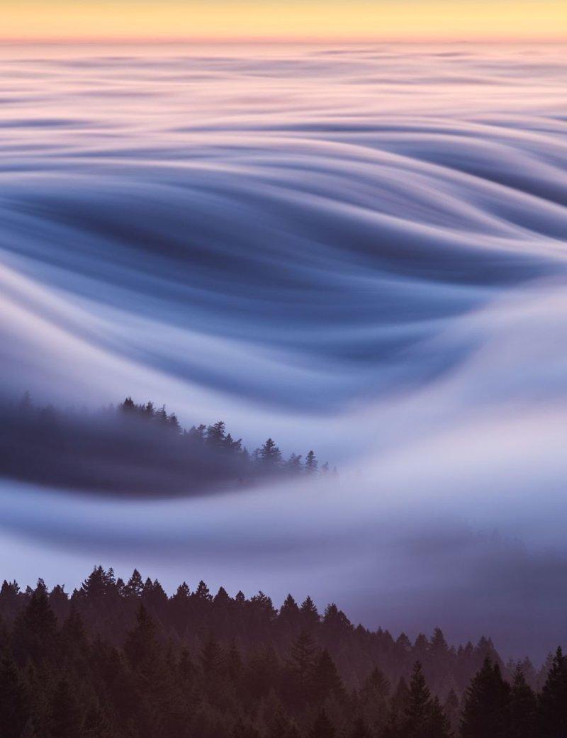 """Сахарная вата: волны тумана, Дэвид Одишо - победитель в категории """"Выбор читателей - места"""" national geographic, конкурс, красота, природа, удивительно, фото, фотография, фотоподборка"""