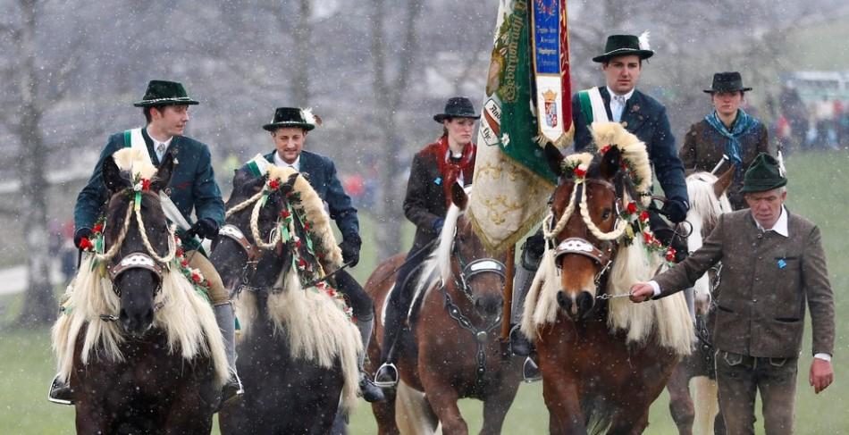 Традиционные скачки Георгия в Баварии
