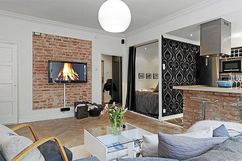 современный дизайн однокомнатной квартиры фото 2015 #10