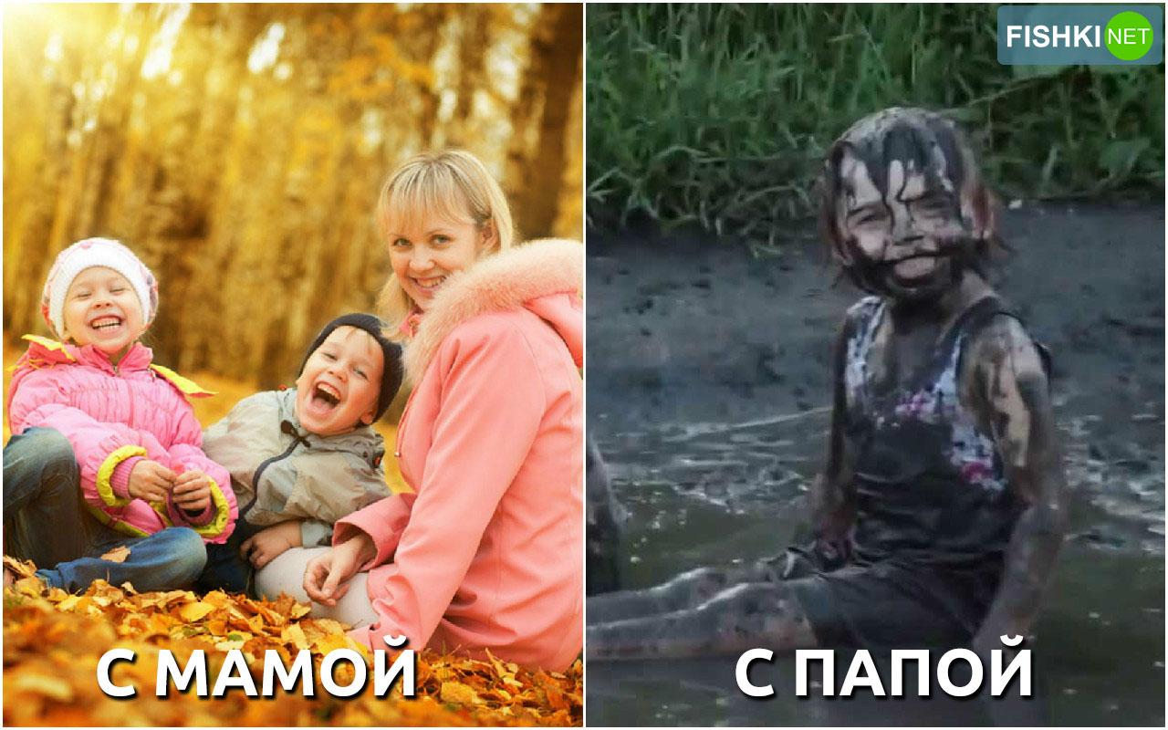 Чем отличаются папы и мамы в…