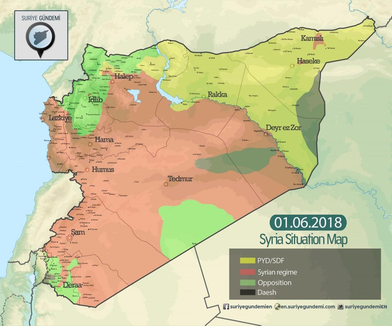 Сирия. Контуры летней кампании 2018 года