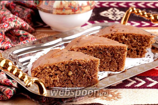 Персидский кофейно-ореховый пирог