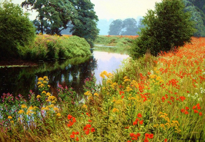 Пейзажи, полные солнца и лета, художника Michael James Smith