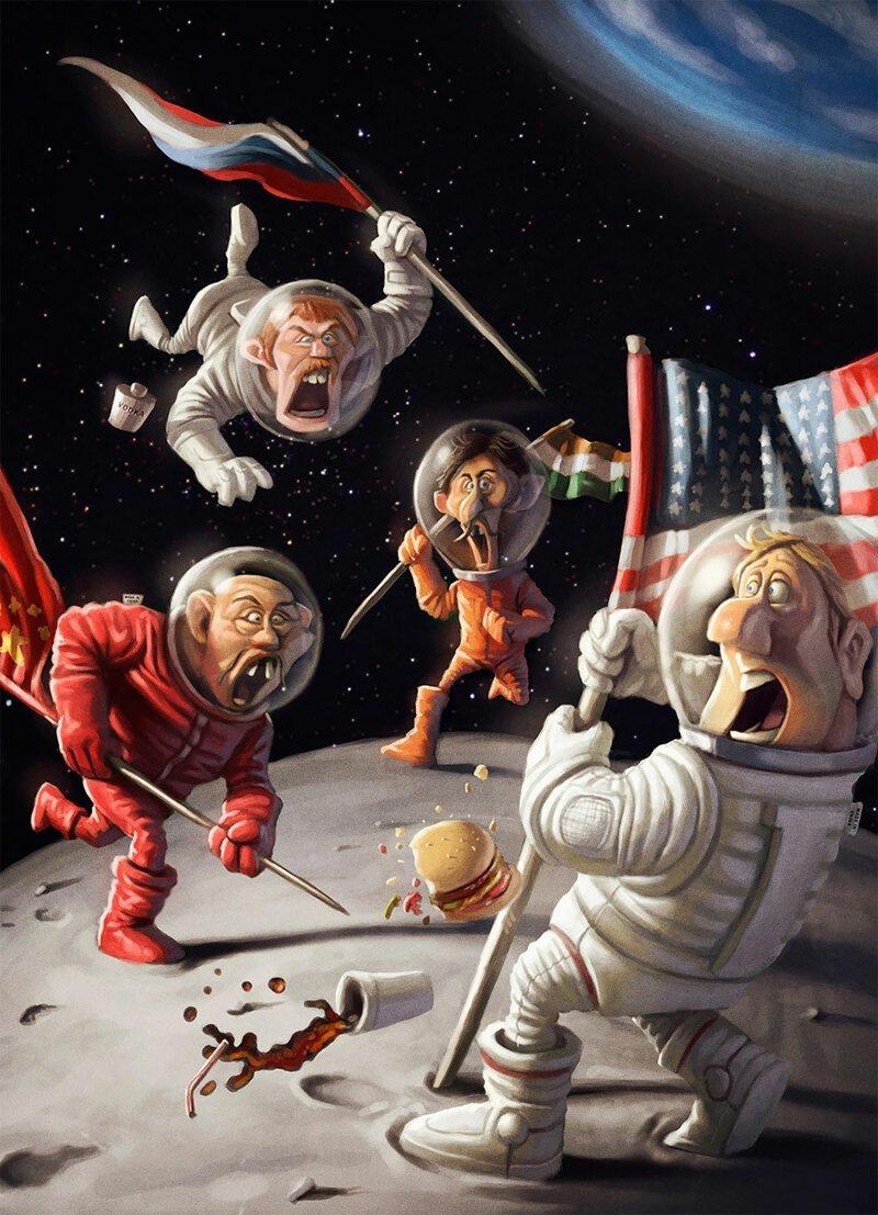Картинки смешные космоса, черепашки ниндзя