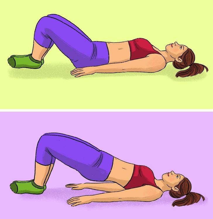 Упражнение для ног и попы в картинках