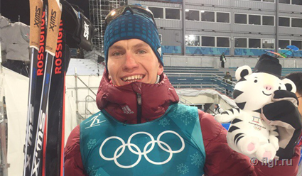 Лыжники Александр Большунов и Андрей Ларьков стали призёрами марафона на Олимпиаде-2018
