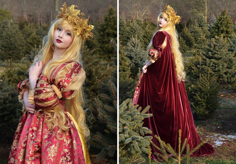 18-летняя девушка шьет фантастически сказочные платья