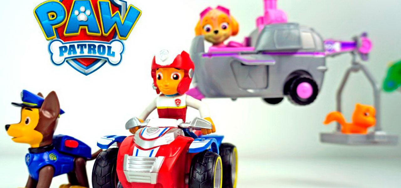 Щенячий патруль мультик с игрушками. Райдер, Гонщик и Скай спасают котенка.