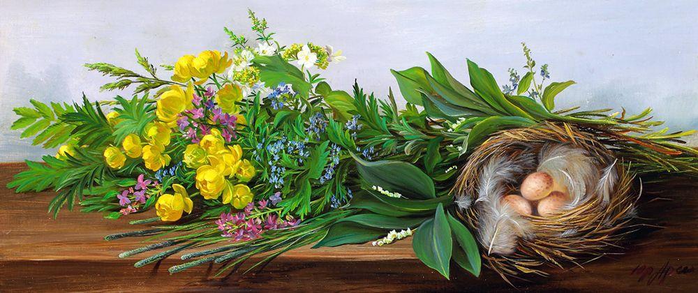 Особая прелесть цветов полевых — творчество художника Юрия Арсенюка