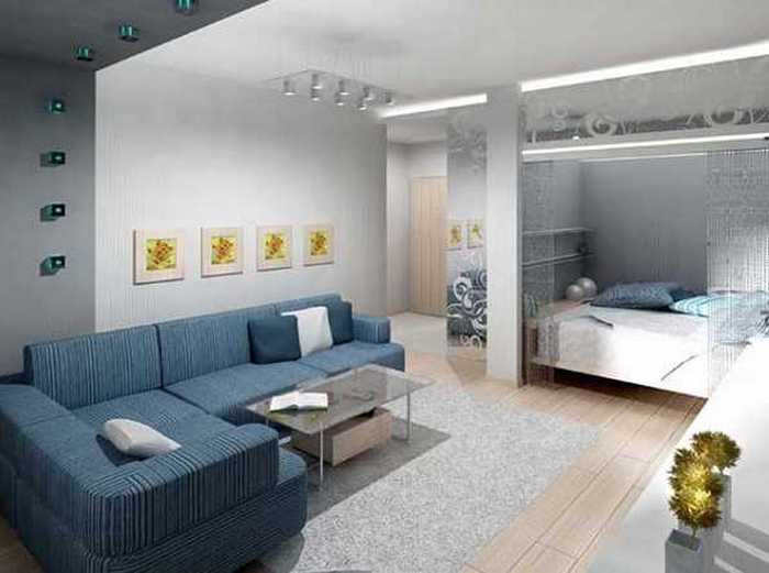 Однокомнатная квартира с нишей под детское спальное место.