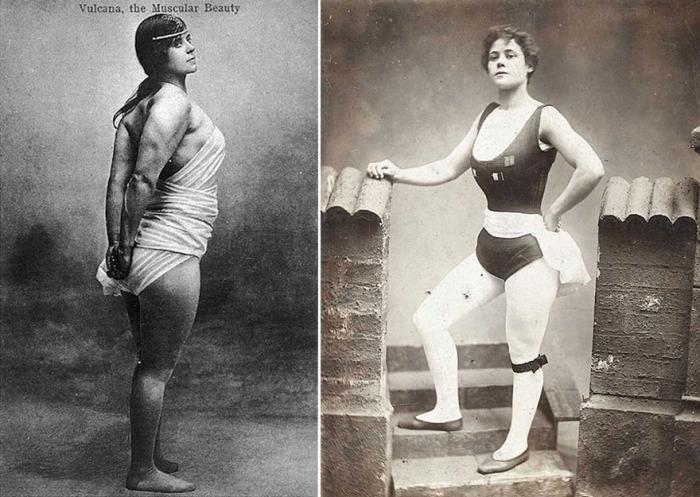 Женщины-бодибилдеры прошлого века