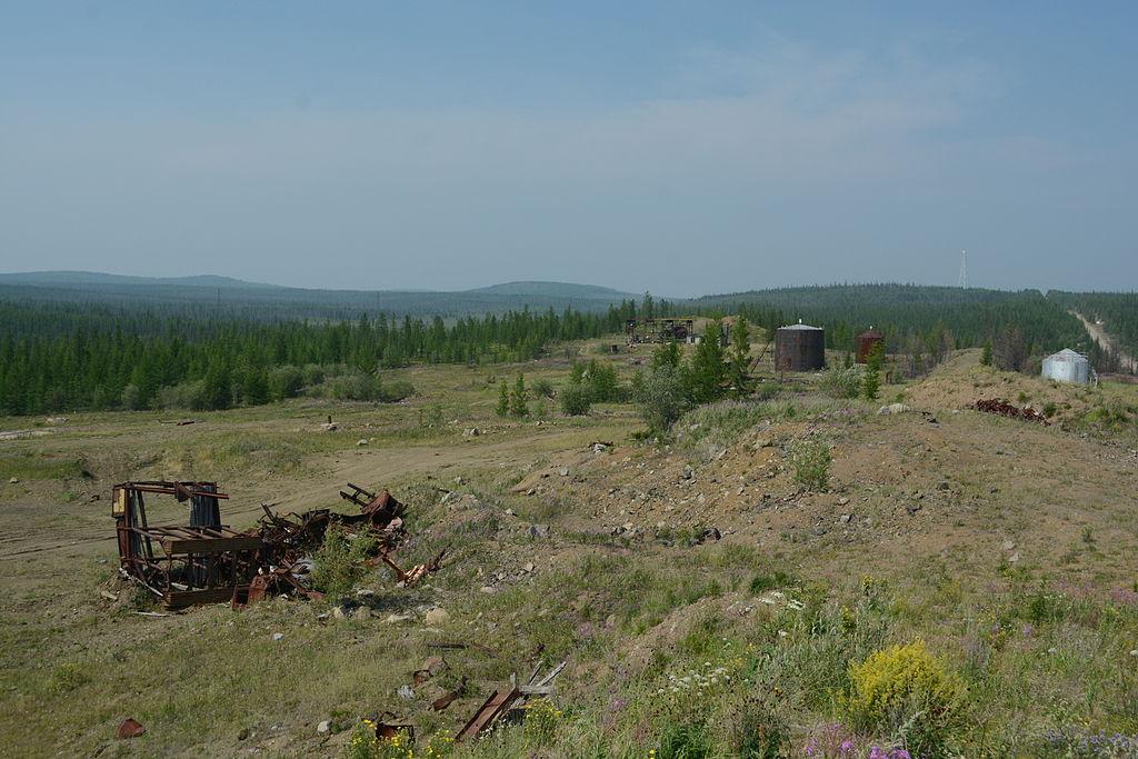 Вид на Долину смерти у заброшенного поселения Олгуйдах.