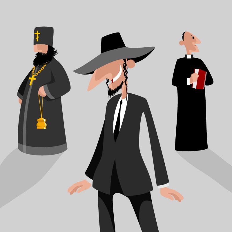 Анекдот про разговор католика, православного иеврея