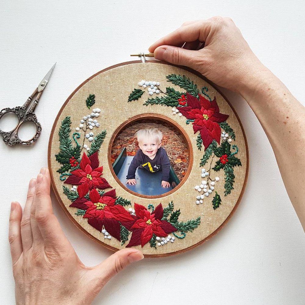 Два-в-одном, или Секрет пяльцев от Jessica Long вдохновляемся,вышивка
