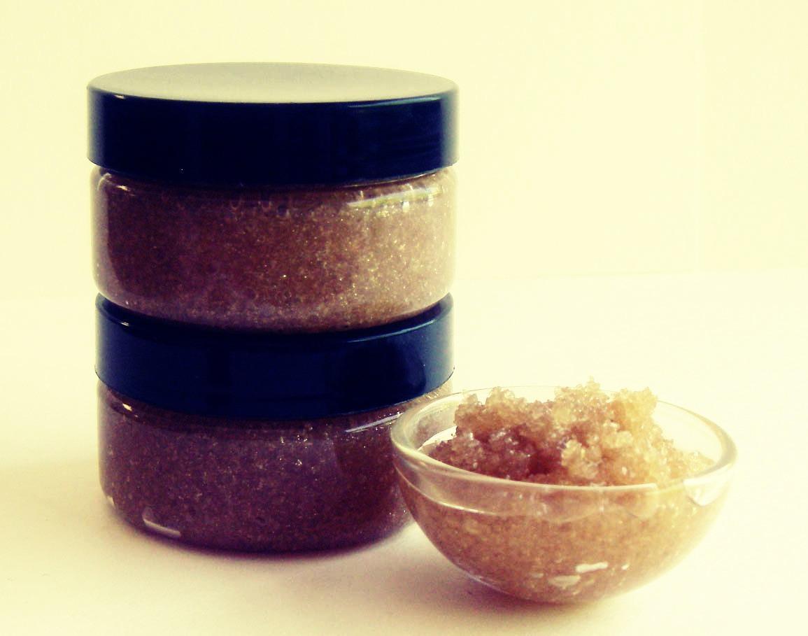 Сахарно-соленый скраб от растяжек