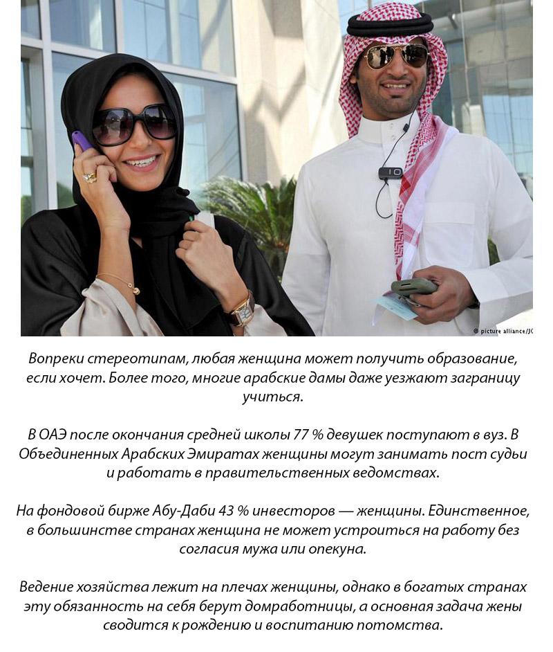Блеск бриллиантов, паранджа, запрет разводов и гаремы — это все, что мы знаем об арабских женщинах